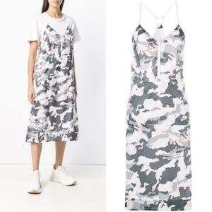 Nike Camo V Neck Racerback Midi Dress Camo Open Ba